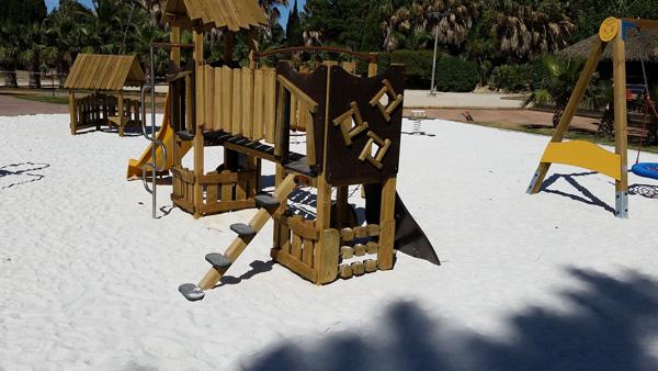 Chantier réalisé pour une aire de jeux d'un camping à Argelès-sur-Mer
